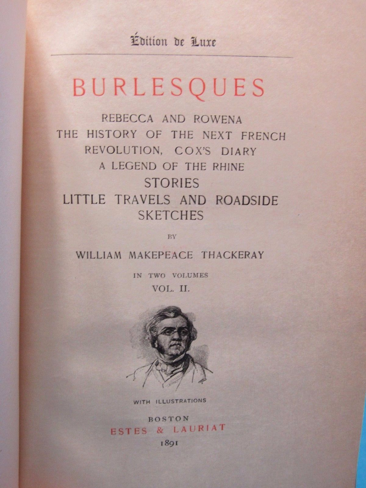1891 28 Volume Set Numbered Limited Edition Works of William Makepeace Thackeray