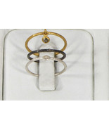 Organic Hammered Stackable Rings .925 Sterling Silver Gold Filled with D... - $105.00