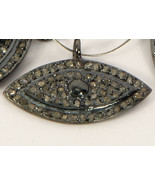 Evil Eye Shape Big Charm Finding .925 Sterling silver with Pave Diamonds - $59.00