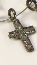 Cross Charm Finding .925 Sterling Silver with Pave Diamonds - €14,63 EUR