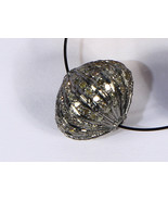 Melon Shape Ball Bead Finding Oxidized .925 Sterling Silver with Pave Di... - $95.00