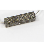 3-D Rectangle Fancy Bead Finding .925 Sterling Silver with Pave Diamonds - $80.00