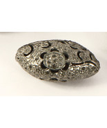 FancyDesign Oxidized Bead Finding .925 Sterling Silver with Pave Diamonds - $125.00