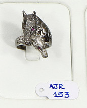 Resizable Horse Design Ring .925 Sterling Silver with Pave Diamonds - $84.00