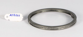 Round Bangle Openable .925 Sterling Silver with 2 rows of Black Diamond - $210.00