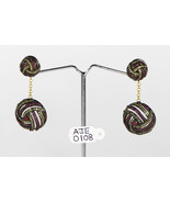 Dangling Earrings 14kt Gold .925 Serling Silver with Ruby & Pave Diamonds - £383.48 GBP