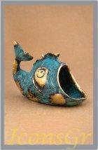Ancient Greek Bronze Museum Replica of Fish Ashtray (316) - $66.53