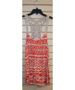 NEW TOTO WOMENS PLUS SIZE 3X ORANGE TRIBAL PRINT TANK TOP W CROCHET TRIM... - $19.34