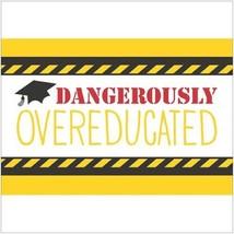 """Tassel Talk Graduation Beverage Napkins - Overeducated (10""""x 10"""") - £7.66 GBP"""