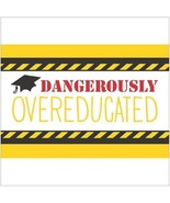 """Tassel Talk Graduation Beverage Napkins - Overeducated (10""""x 10"""") - $9.85"""