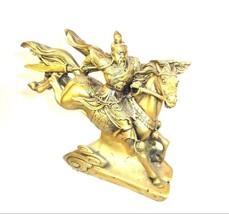 """General Guan w/ Halbred _ 10"""" Statue of General Guan on a Flying Horse [... - $28.41"""