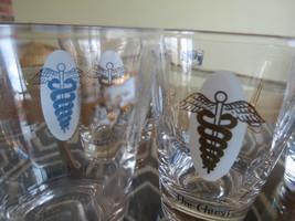 Mid Century Medical icons Rocks Glasses (5),Caduceus  Pharmacist Doctor ... - $14.85