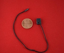 "7""1000 Pcs Black Hang Tag Nylon String FLAT Head Snap Lock Loop Fastener... - $32.50"