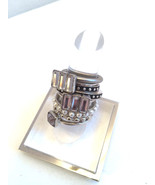 Ring Set on Leather 8pcs.Urban Outfitters Silve... - $16.97