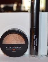 Laura Geller baked body frosting Honey Glow all over face body .32 oz w/ brush - $14.99