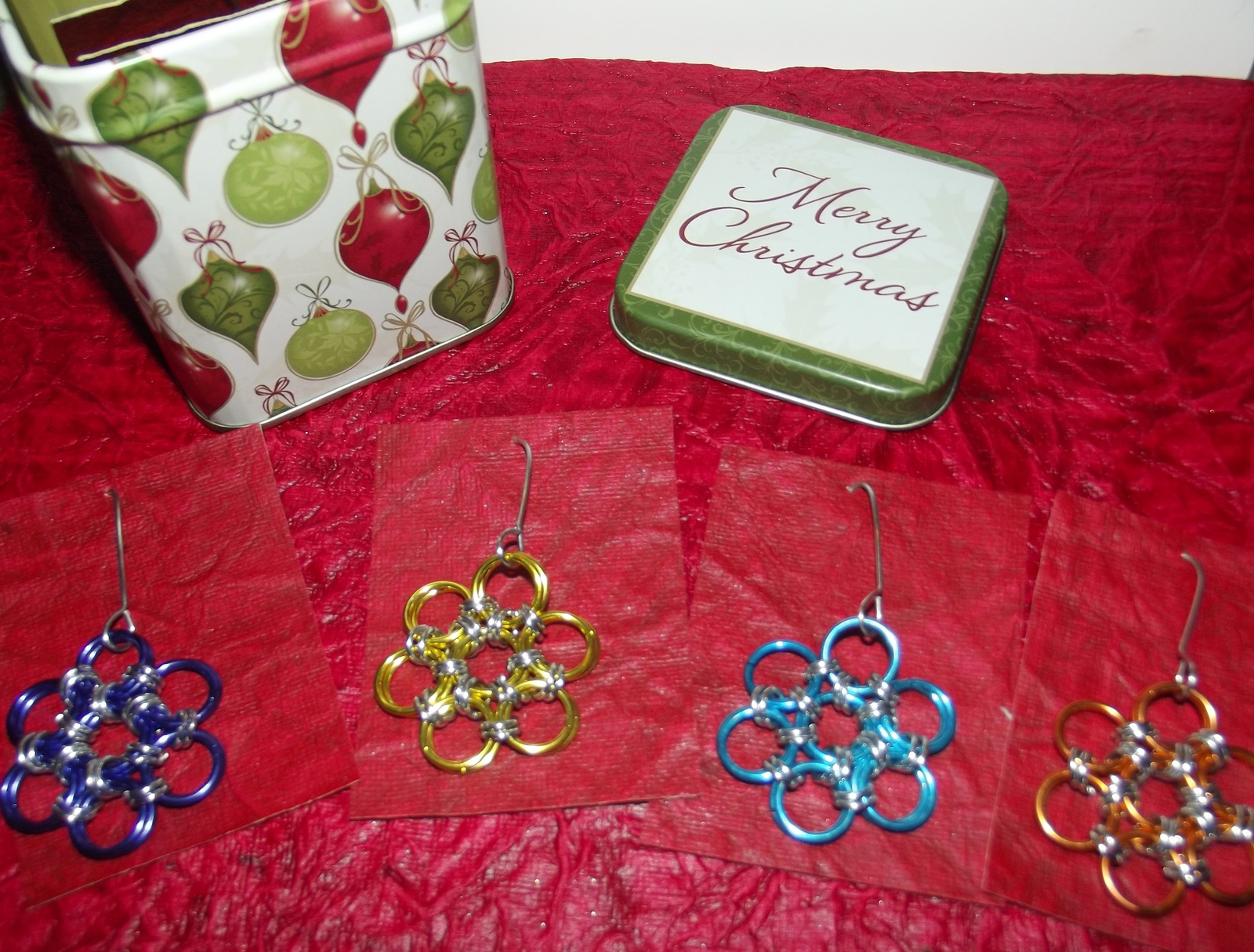 Chainmaille Christmas Snowflake Ornaments