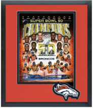 Denver Broncos Super Bowl 50 Champions Team Compsoite-11x14 Matted/Fram... - $43.95
