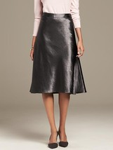 Banana Republic Heritage Shine Midi Skirt, Sharp Gray, size 12, NWT - $94.99
