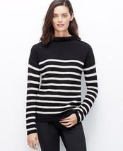 Ann Taylor Striped Mock Neck Sweater, Size L, Nwt - $33.15