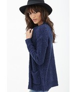 FOREVER 21 TEXTURED KNIT CARDIGAN, NAVY, SIZE L, NWT - $20.82 CAD