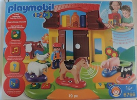 Playmobil 1-2-3 Interactive Learning Farm set # 6766 - New - $45.00