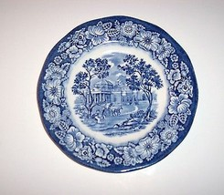 Vintage Staffordshire Liberty Blue China, Bread and Butter Plate, Montic... - $7.00