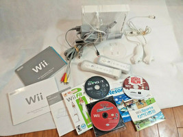 Wii console Huge bundle LOT with controllers Nuchuck games SPORTS Cars s... - $89.09