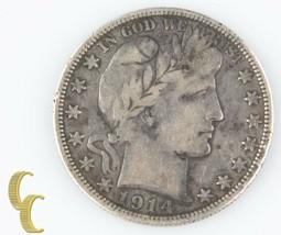 1914-S Barber Half Dollar (Very Fine, VF) San Francisco Silver 1/2 c KM-116 - $133.95
