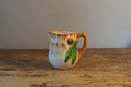 Vtg Mid Century Ceramic Pitcher Fruit Cherry/Leaves  Made in Occupied Japan - $5.23