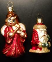 Old World Christmas Christmas Ornaments Bright Red Angel Santa Bell Orig... - $14.99