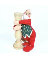 ANNALEE Vintage Santa Clause Candle Holder 8 inch Christmas 1992 - $19.64