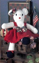 Z422 Crochet PATTERN ONLY Miss Juliana Bear Doll Toy Pattern - $7.50