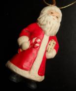 Santa Claus Christmas Ornament Ceramic Taiwan ROC Original Presentation Box - $9.99