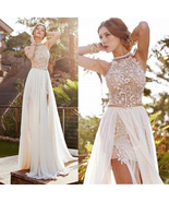 New Lace Long Chiffon Evening Party Cocktail Backless Dress Bridesmaid P... - $18.50