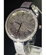 NEW WOMENS MICHAEL KORS (MK3250) RUNWAY SILVER PAVE GLITZ WATCH - $233.00