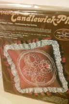 Sealed 1983 0487 Paragon Candlewick Plus Kit Floral Basket Pillow  Embroidery - $14.26