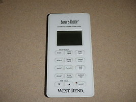 West Bend Bread Maker Machine Control Panel models 41080 41080R - $37.39