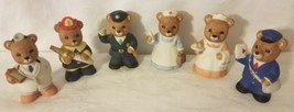 "#8805 Set of 6 Bear Figurines Vintage Home Interiors 3"" Free Shipping - $9.49"
