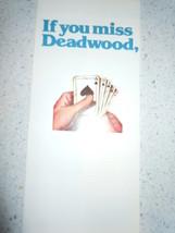 If You Miss Deadwood South Dakota Travel Brochure 1980's - $2.99