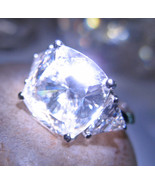 Haunted ring INFINITE POWER HIGH MAGICK SPELL 925 Crystal gem Witch Cassia4 - $39.46