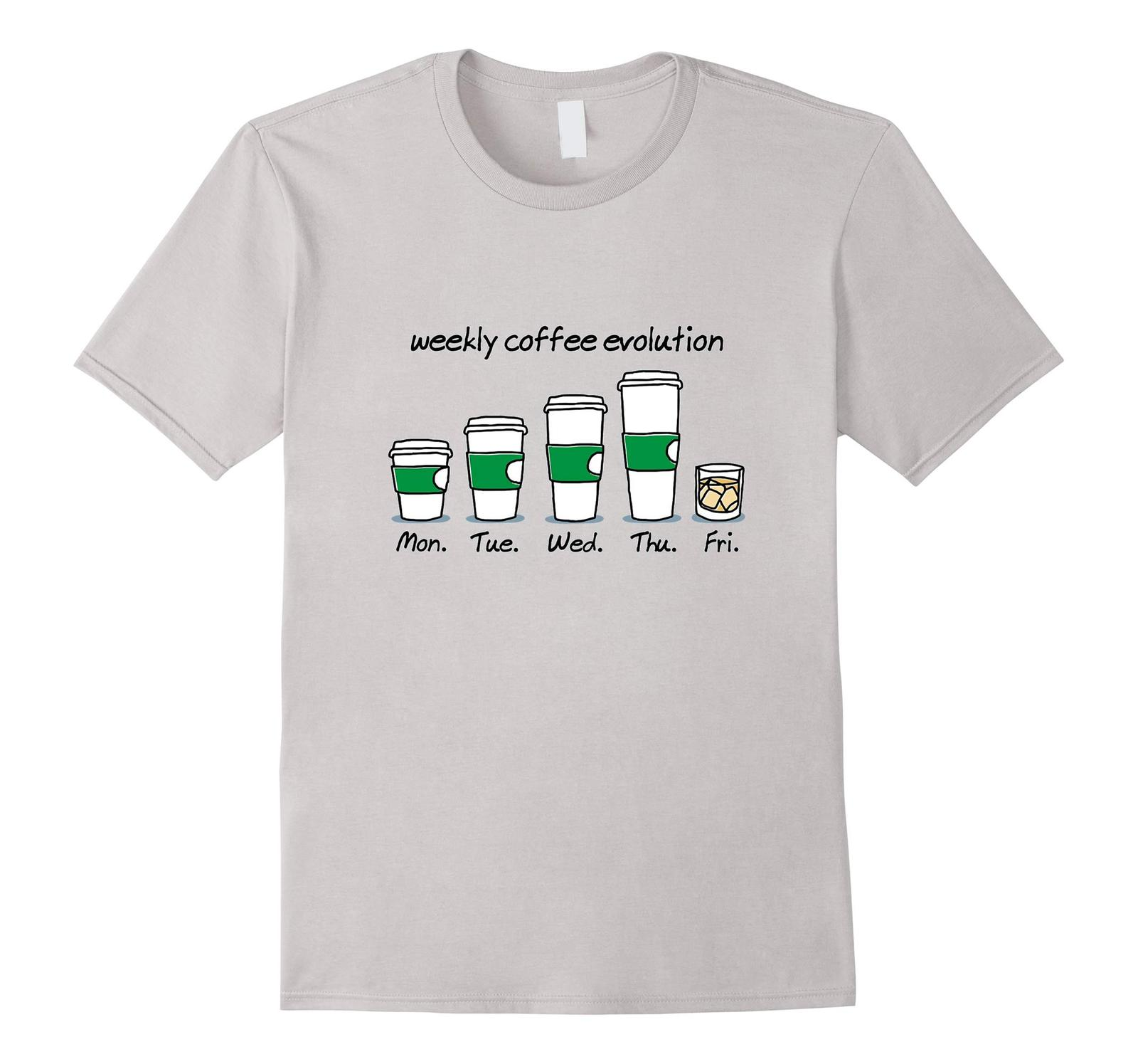 New Shirts - Weekly Coffee Evolution Drink T-Shirt Men image 2