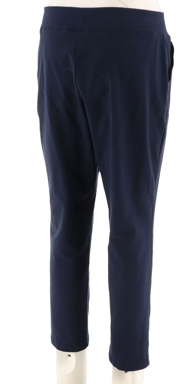 Women with Control Petite Tummy Control Ankle Pant Navy PS NEW A302065