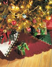 X195 Crochet PATTERN ONLY Timeless Tree Skirt and Stocking Pattern Christmas - $7.50