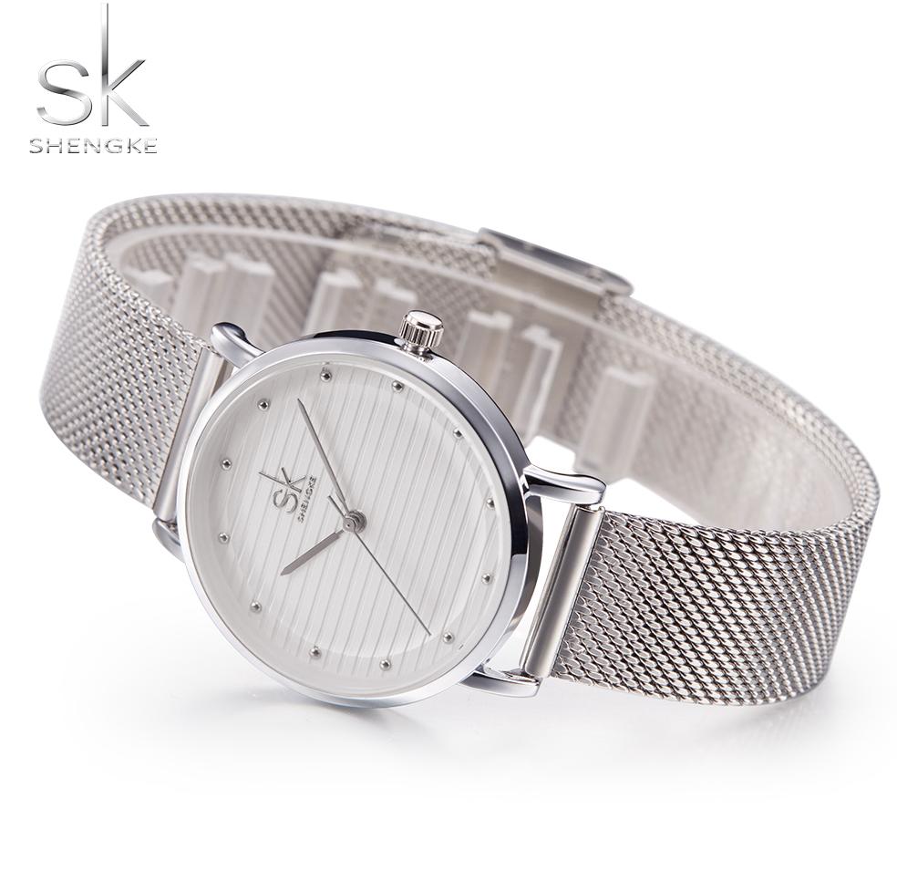 SK® High Quality Wrist Watches Casual Dress Luxury Sliver Rhinestone Waterproof