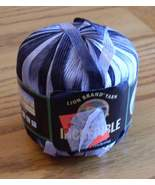 Lion Brand INCREDIBLE Ribbon Yarn, Accent On Black #204, 1 Skein - $7.99