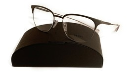 Prada Women's Black Silver Glasses with case VPR 59u TY3-1O1 53mm - $185.99