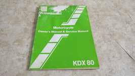 Kawasaki KDX80 Supplement Owner's & Service Manual  OEM Used 654 - $9.49