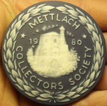 Massive 63mm Ceramic~Mettlach Villeroy & Boch Germany Collectors Medallion~Fr/Sh - $28.66