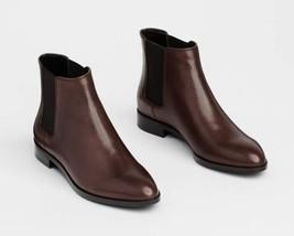 Ann Taylor Gail Chelsea Leather Boots, Deep Brandywine, size 8.5, NIB - $110.00
