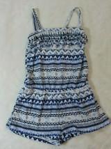 Children's Place Girls Romper Size 4 Blue Stripe Fringe Shortset Spring ... - $21.77